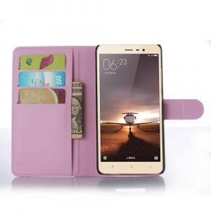 Чехол портмоне подставка с защелкой для Xiaomi RedMi Note 3 Розовый