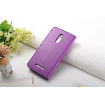 Чехол портмоне подставка на силиконовой основе с защелкой для Xiaomi RedMi Note 3 Фиолетовый