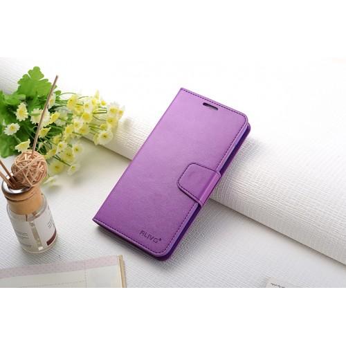 Чехол портмоне подставка на силиконовой основе с защелкой для Xiaomi RedMi Note 3 Пурпурный