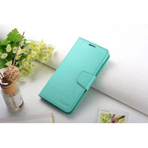 Чехол портмоне подставка на силиконовой основе с защелкой для Xiaomi RedMi Note 3 Зеленый