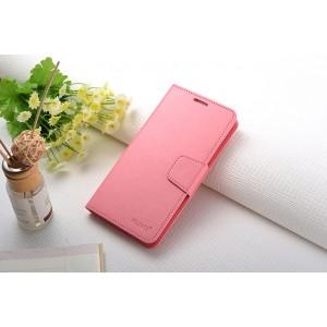 Чехол портмоне подставка на силиконовой основе с защелкой для Xiaomi RedMi Note 3 Розовый