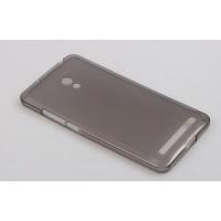 Силиконовый полупрозрачный чехол для ASUS Zenfone 6 Черный