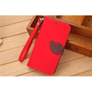 Текстурный чехол портмоне подставка на силиконовой основе с дизайнерской застежкой для Xiaomi RedMi Note 3