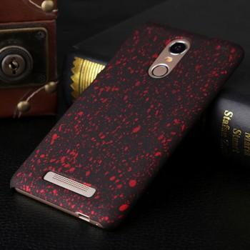 Пластиковый матовый дизайнерский чехол с голографическим принтом Звезды для Xiaomi RedMi Note 3 Красный