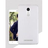 Силиконовый матовый полупрозрачный чехол для Xiaomi RedMi Note 3 Белый
