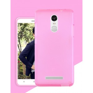 Силиконовый матовый полупрозрачный чехол для Xiaomi RedMi Note 3 Розовый
