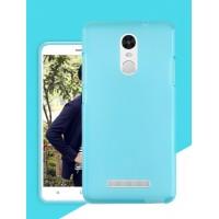 Силиконовый матовый полупрозрачный чехол для Xiaomi RedMi Note 3 Голубой