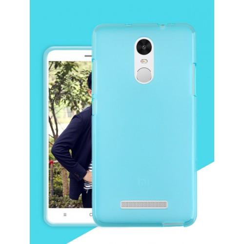 Силиконовый матовый полупрозрачный чехол для Xiaomi RedMi Note 3