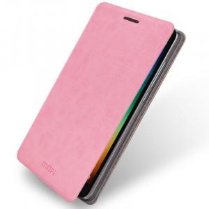 Водоотталкивающий чехол флип подставка на силиконовой основе для Xiaomi RedMi Note 3 Розовый
