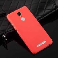 Силиконовый матовый непрозрачный чехол для Xiaomi RedMi Note 3 Красный