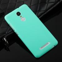 Силиконовый матовый непрозрачный чехол для Xiaomi RedMi Note 3 Зеленый