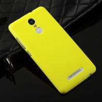 Силиконовый матовый непрозрачный чехол для Xiaomi RedMi Note 3 Желтый