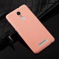 Силиконовый матовый непрозрачный чехол для Xiaomi RedMi Note 3 Розовый