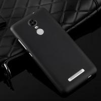Силиконовый матовый непрозрачный чехол для Xiaomi RedMi Note 3 Черный