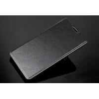 Чехол флип подставка на пластиковой основе для Xiaomi RedMi Note 3 Черный