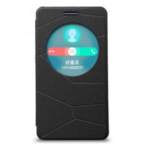 Текстурный чехол-флип с окном вызова для ASUS Zenfone 6 Черный