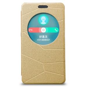 Текстурный чехол-флип с окном вызова для ASUS Zenfone 6 Бежевый
