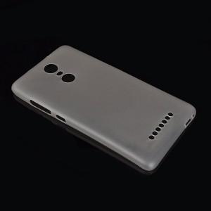 Пластиковый матовый полупрозрачный чехол для Xiaomi RedMi Note 3 Серый