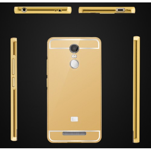 Двухкомпонентный чехол с металлическим бампером и поликарбонатной накладкой для Xiaomi RedMi Note 3