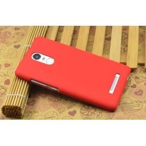 Пластиковый матовый чехол с повышенной шероховатостью для Xiaomi RedMi Note 3 Красный