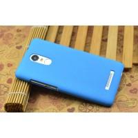 Пластиковый матовый чехол с повышенной шероховатостью для Xiaomi RedMi Note 3 Голубой
