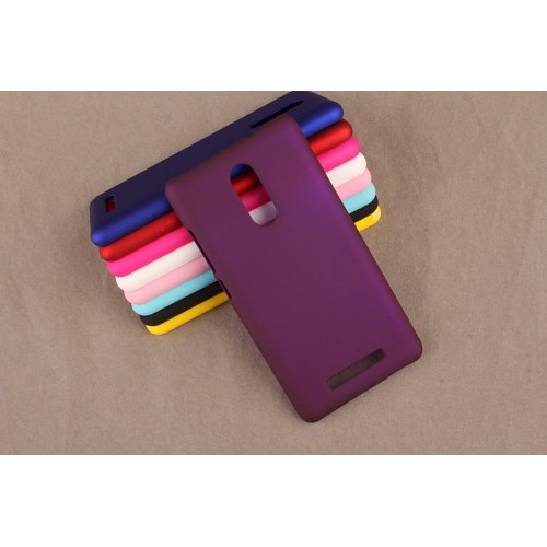 Пластиковый матовый непрозрачный чехол для Xiaomi RedMi Note 3 Пурпурный