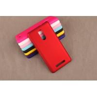 Пластиковый матовый непрозрачный чехол для Xiaomi RedMi Note 3 Красный