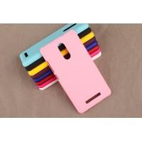 Пластиковый матовый непрозрачный чехол для Xiaomi RedMi Note 3 Розовый