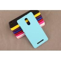 Пластиковый матовый непрозрачный чехол для Xiaomi RedMi Note 3 Голубой