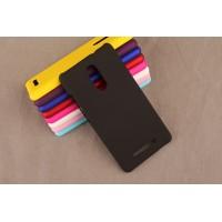 Пластиковый матовый непрозрачный чехол для Xiaomi RedMi Note 3 Черный