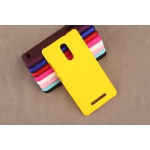 Пластиковый матовый непрозрачный чехол для Xiaomi RedMi Note 3 Желтый