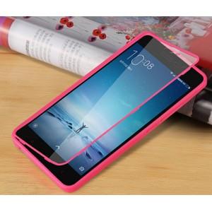 Двухмодульный силиконовый чехол горизонтальная книжка с транспарентной акриловой смарт крышкой для Xiaomi RedMi Note 3 Розовый