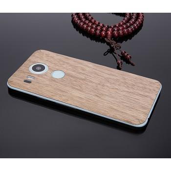 Клеевая натуральная деревянная накладка для Google LG Nexus 5X