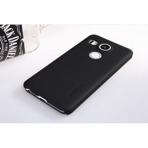 Пластиковый матовый нескользящий премиум чехол для Google LG Nexus 5X Черный