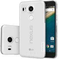 Силиконовый матовый полупрозрачный чехол повышенной защиты для Google LG Nexus 5X Белый