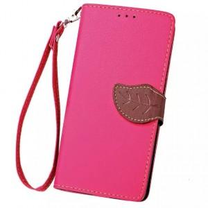 Текстурный чехол флип подставка портмоне на силиконовой основе с дизайнерской застежкой для Google LG Nexus 5X Розовый