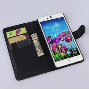 Чехол портмоне подставка с защелкой для ZTE Nubia Z9 Max Черный