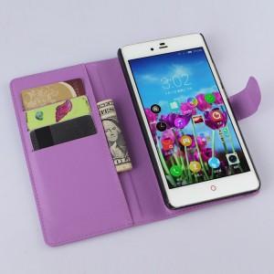 Чехол портмоне подставка с защелкой для ZTE Nubia Z9 Max Фиолетовый