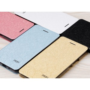Текстурный чехол флип подставка на силиконовой основе для ZTE Nubia Z9 Max