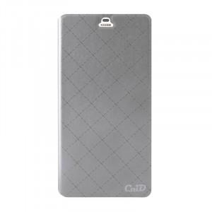Чехол флип подставка на пластиковой основе с отделением для карт текстура Клетки для ZTE Nubia Z9 Max