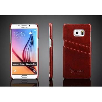 Чехол накладка с отделением для карт текстура Кожа для Samsung Galaxy S6 Edge Plus