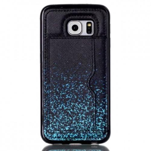 Чехол накладка с отделением для карт и принтом для Samsung Galaxy S6 Edge Plus