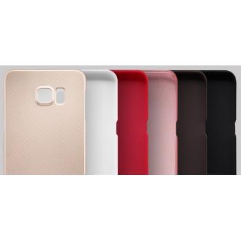 Пластиковый матовый нескользящий премиум чехол для Samsung Galaxy S6 Edge Plus