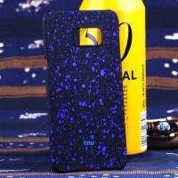 Пластиковый матовый дизайнерский чехол с голографическим принтом Звезды для Samsung Galaxy S6 Edge Plus Синий