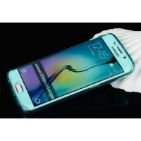 Двухмодульный силиконовый чехол горизонтальная книжка с транспарентной акриловой смарт крышкой для Samsung Galaxy S6 Edge Plus Зеленый