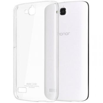 Пластиковый транспарентный олеофобный премиум чехол для Huawei Honor 3c