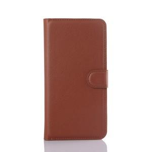 Чехол портмоне подставка с защелкой для Samsung Galaxy S6 Edge Plus Коричневый