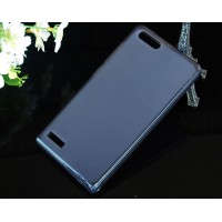 Силиконовый полупрозрачный чехол для Huawei Ascend G6 Черный