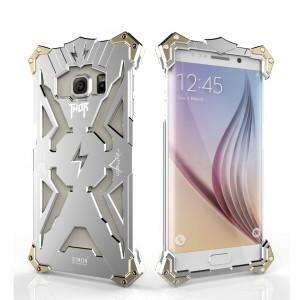 Металлический винтовой чехол повышенной защиты для Samsung Galaxy S6 Edge Plus Белый