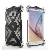 Металлический винтовой чехол повышенной защиты для Samsung Galaxy S6 Edge Plus Черный